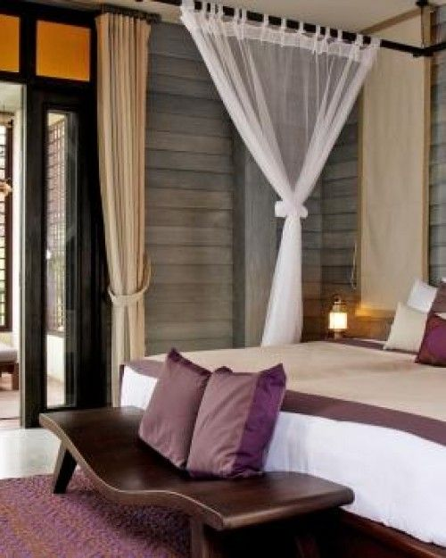 Anantara Lawana Resort & Spa ( North Chaweng, Koh Samui, Thailand ) Rooms are decorated in Zen-style decor and have outdoor spaces; here's a Deluxe Lawana Room. #Jetsetter