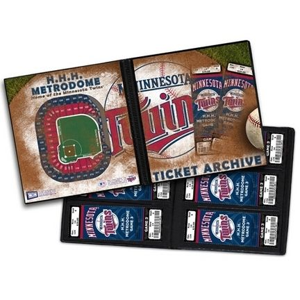 "Minnesota Twins Ticket Album (Holds 96 Tickets): ""Minnesota Twins Your Twins ticket collection… #Sport #Football #Rugby #IceHockey"