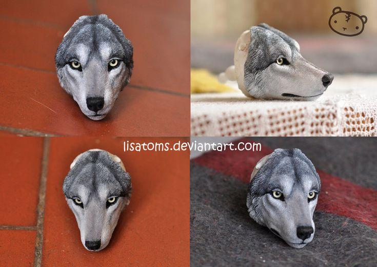 Sculpted wolf face by LisaToms on DeviantArt