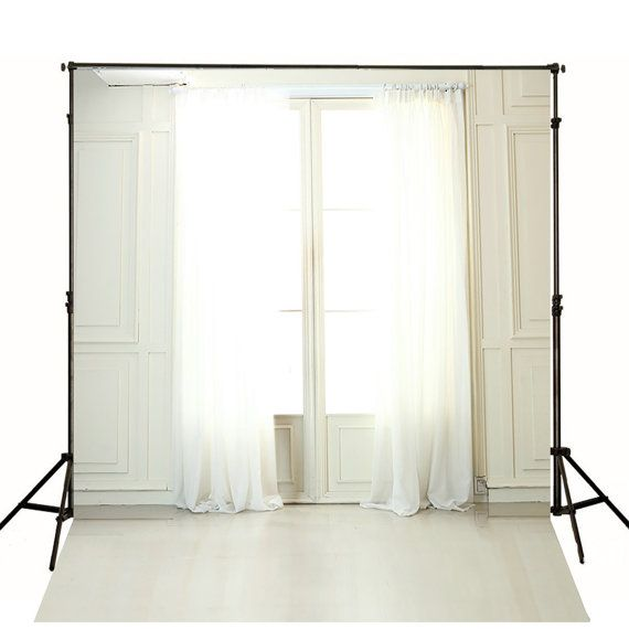Indoor Background White Curtains White Window Studio Photo Backdrop For Wedding Photography Backdrop gc-4304