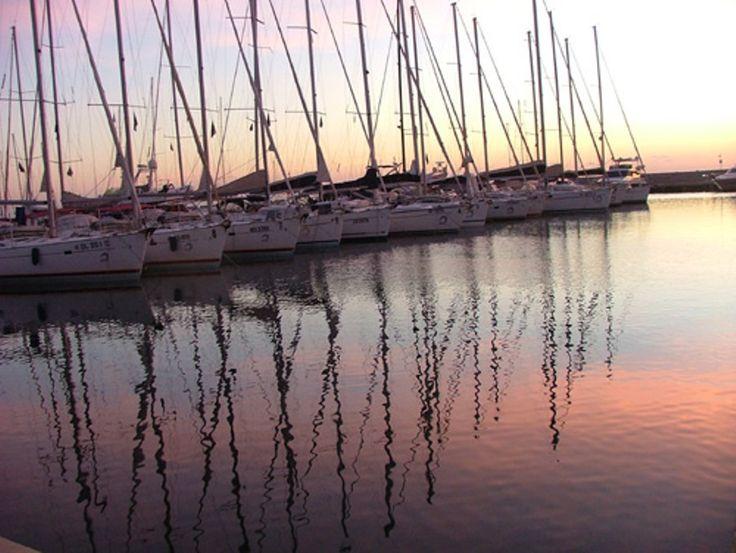 our fleet on sunset