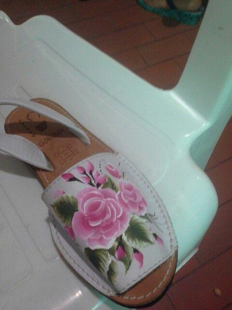 Zapatillas pintadas a mano Javier endes