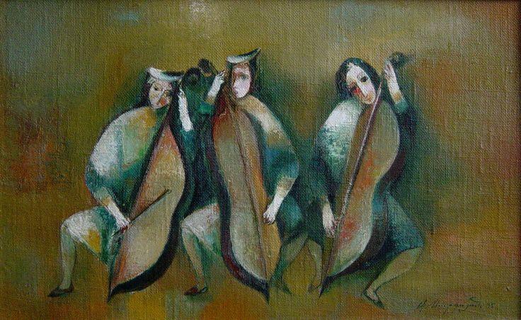 """Trio"" oil on canvas, 60x40"