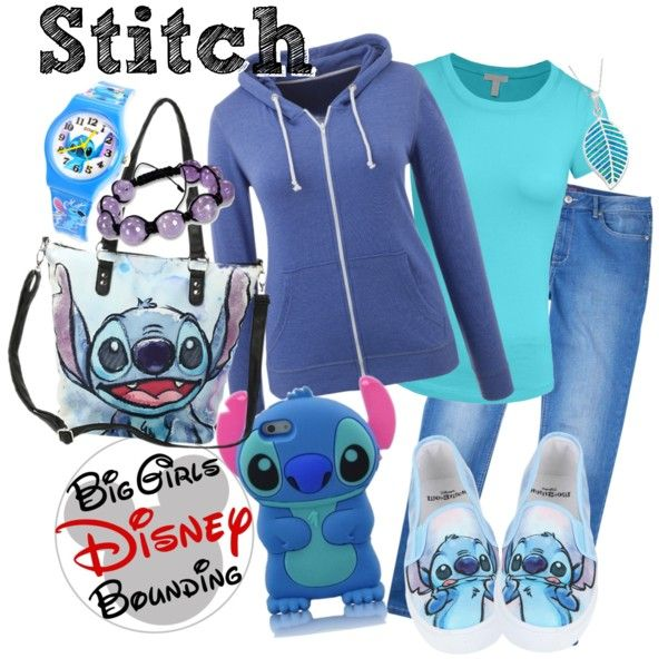 Stitch Plus Size Disney Bounding by bgdisneybound on Polyvore featuring polyvore, fashion, style, Violeta by Mango, Disney, Miadora and Samsung