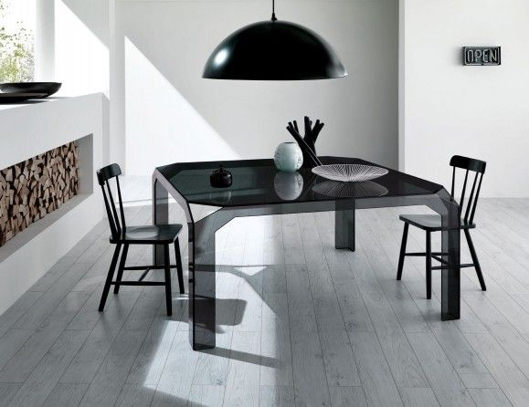italian glass furniture. nervi italian designer dining table handmade in smoked glass furniture n