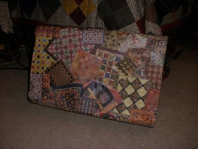 lovely storage idea... decoupage onto old suitcases