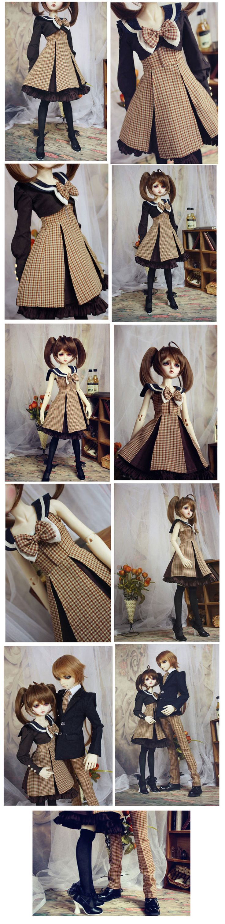 Bjd Clothes Students uniform for MSD/SD10/SD13/SD16 Ball-jointed Doll_70cm DOLL_70cm DOLL_CLOTHING_Ball Jointed Dolls (BJD) company-Legenddoll