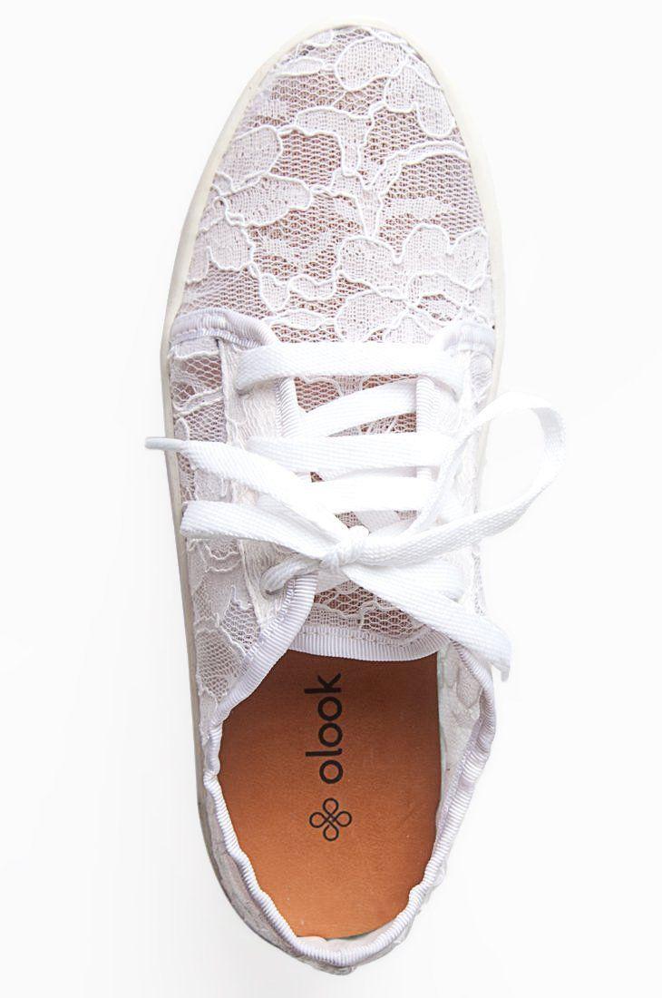 Tênis Renda Branco - Roupas e Sapatos Femininos | Olook