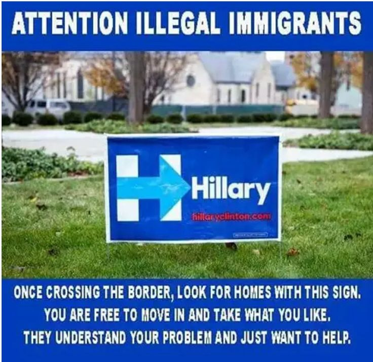 Illegal aliens are welcome in houses with these signs. Just walk in and get your benefits;