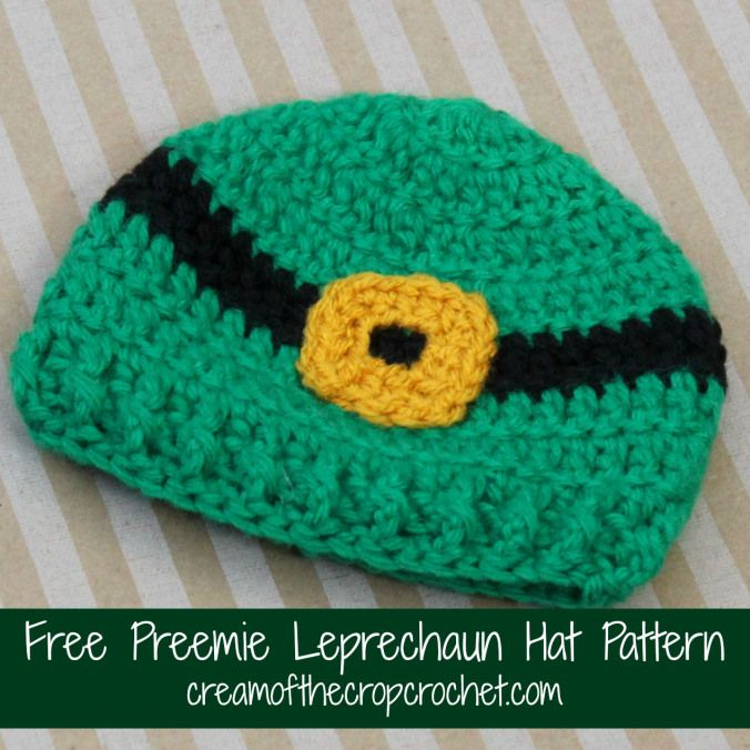 Crochet Pattern Leprechaun Hat : Cream Of The Crop Crochet ~ Preemie Leprechaun Hat {Free ...