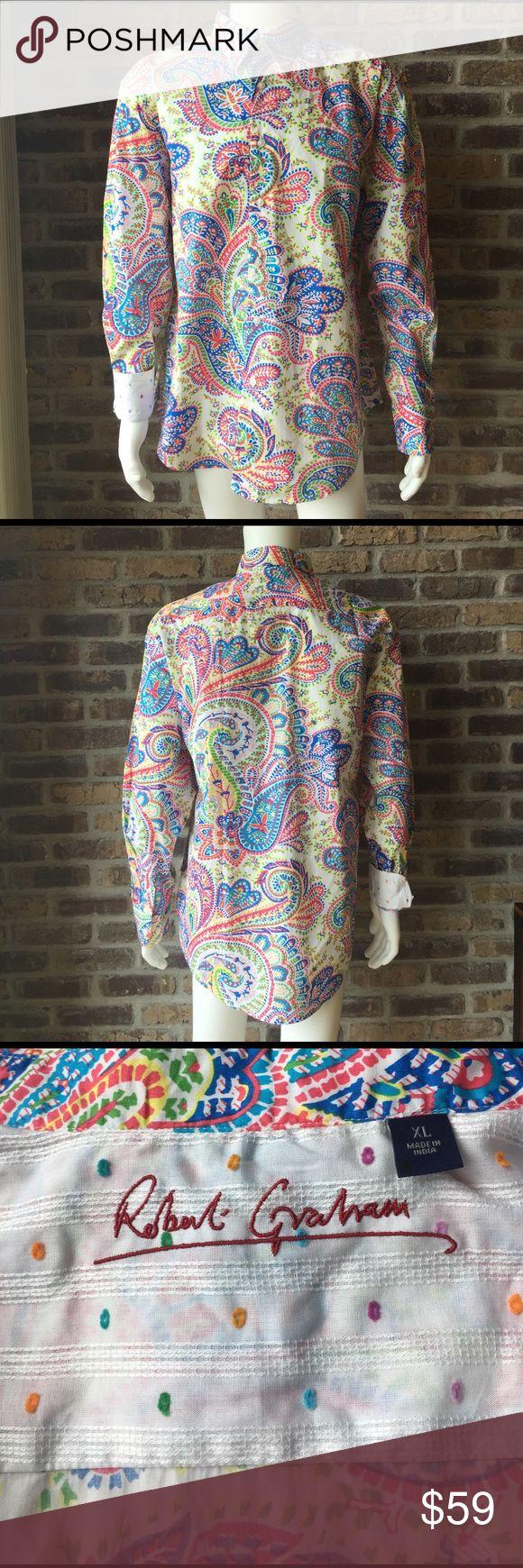 Robert Graham men's shirt Men's size XL Robert Graham shirt.  It has been worn Robert Graham Shirts Casual Button Down Shirts