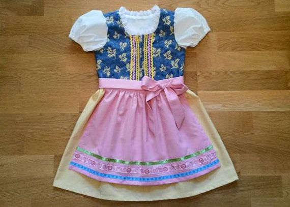 Girls dirndl dress with apron. Toddler dirndl by ViaFUNICOLARE