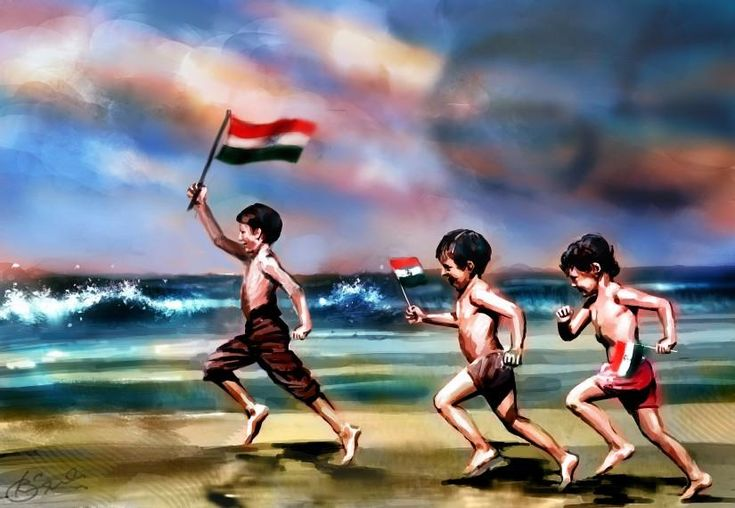 HAPPY INDEPENDENCE DAY - Digital Art by Kiran Kumar in Digital Paintings at touchtalent