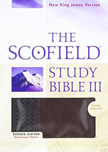 The Scofield® Study Bible III, NKJV (Indexed):   This book, which represents a quantum leap in the development of the respected emScofield® Study Bible/em, combines a popular modern Bible translation with the highly regarded emScofield®/em study system. The new edition includes a host of useful features that are sure to enhance the augmentation (not revision) of this renowned one-volume resource, thereby broadening its readership. brbrThis black/burgundy basketweave edition combines th...