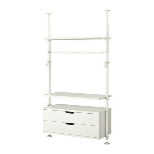 STOLMEN - 1 section IKEA wardrobe organizer. Adjustable height. Might work well in my walk in and utilize some space under the hanging clothes! $242.00