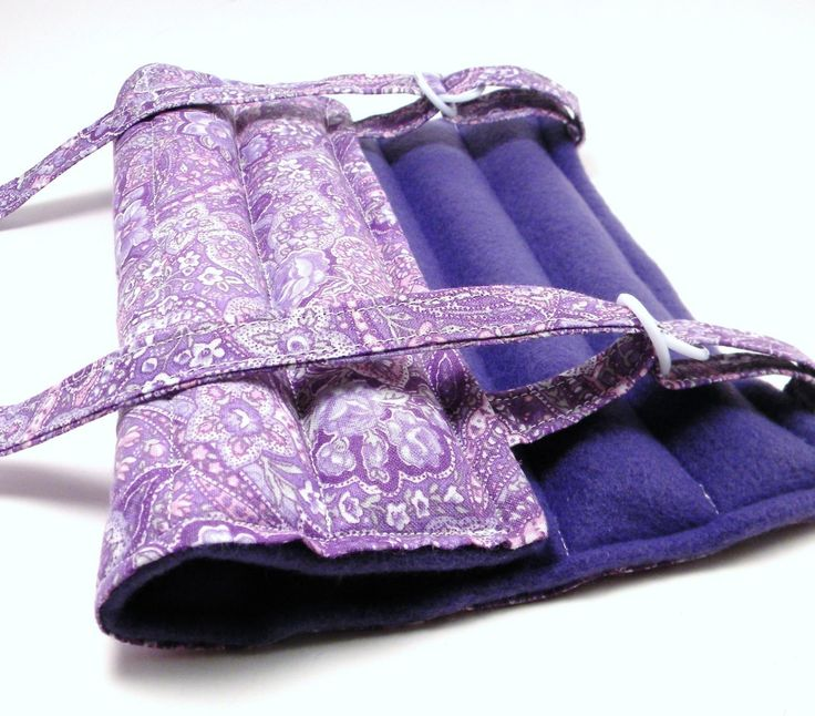 Heat Pack Knee Wrap, Elbow Arm Microwave Heating Pad, purple paisley. $28.95, via Etsy.