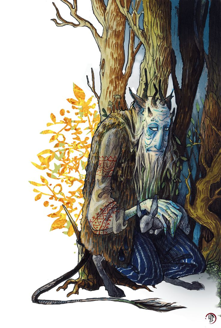 """inkyami: """" Leshy ([Leshii'] рус. Леший """"Forest man"""") — a woodland spirit, the master of forests in east-slavic (and most-commonly russian) mythology, protector of local flora and fauna. In most tales..."""