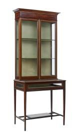 Mahogany Bijouterie Display Cabinet c.1900 from Debenham Antiques Ltd