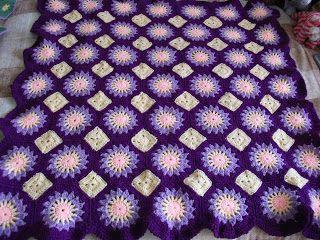 Purple Suns Blanket .Фиолетовое одеяло с солнышками.. Обсуждение на LiveInternet - Российский Сервис Онлайн-Дневников