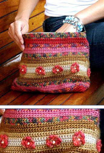 Crochet bag. Inspiration only. Bolsa em crochê tipo pochete