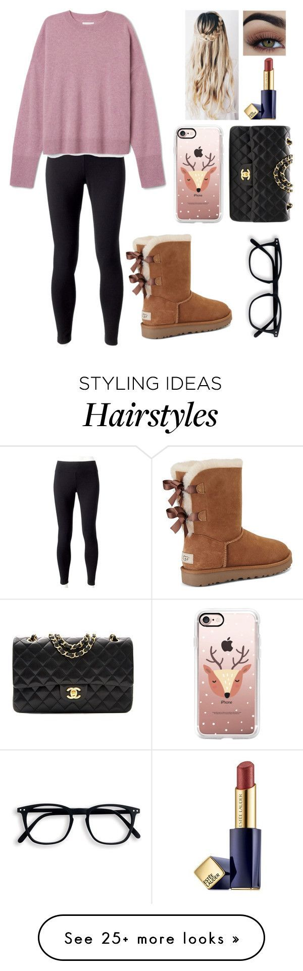 11-29-16 by blessed-with-beauty-and-rage on Polyvore featuring UGG, Casetify, Estée Lauder, Jockey and Chanel