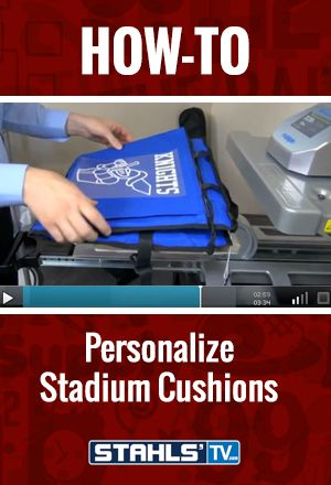 Stadium seats and cushions are a great sales opportunity for events. STAHLS' TV Presenter, Josh Ellsworth shows you how to print stadium seats with a #heatpress. StahlsTV.com