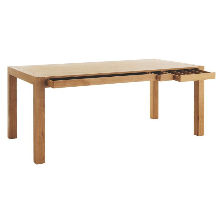 HANA 6 seat oak dining table with storage £395