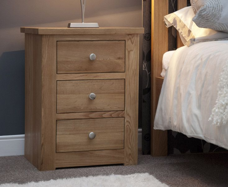 Homestyle GB Reno 3 Drawer Narrow Bedside Cabinet
