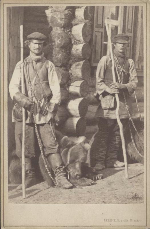 Каррик Мужчины с медведями Государственный каталог Музейного фонда Российской Федерации