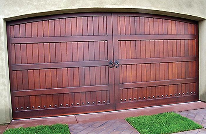 Arched Wood garage door