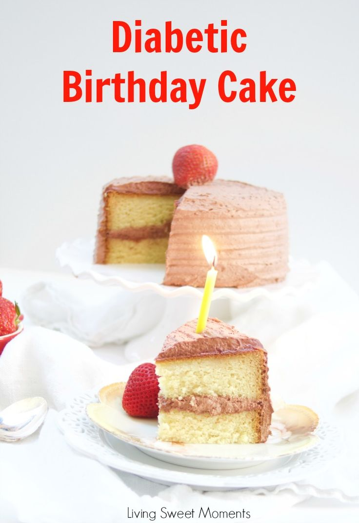 This delicious Diabetic Birthday Cake Recipe has a sugar free vanilla cake with sugar free chocolate frosting. A decadent and tasty dessert for everyone!