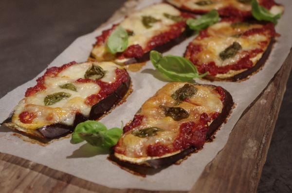 Aubergine pizzaatjes