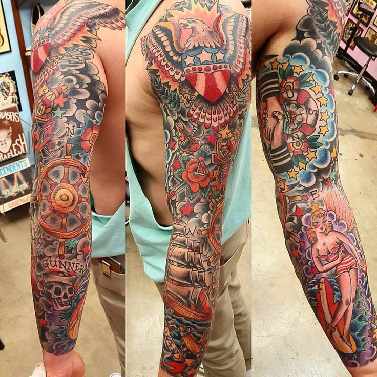 Traditional Tattoo Sleeves: Best 25+ Traditional Tattoo Sleeves Ideas On Pinterest