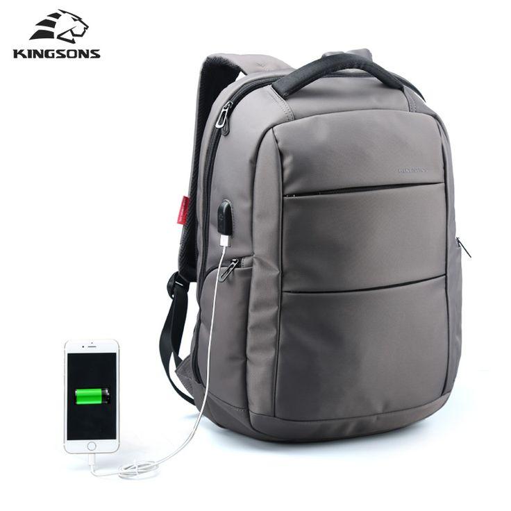Función de Carga USB Externo Portátil de Kingsons Mochila antirrobo Dayback Mujeres Hombre de Negocios Bolsa de Viaje de 15.6 pulgadas