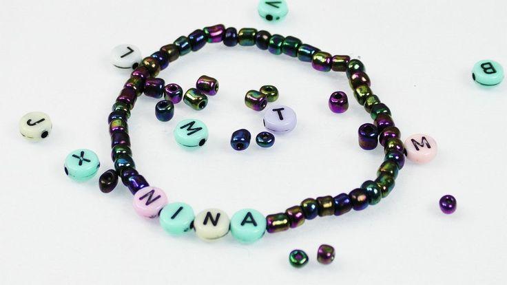 Schönes Perlen Armband als Überraschung für NINA | Names Armband selber machen | DIY Idee