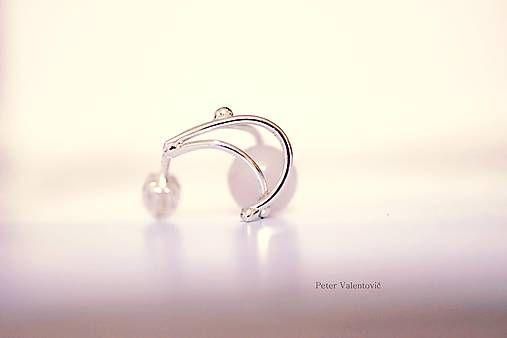 silver earrings Rose quartz