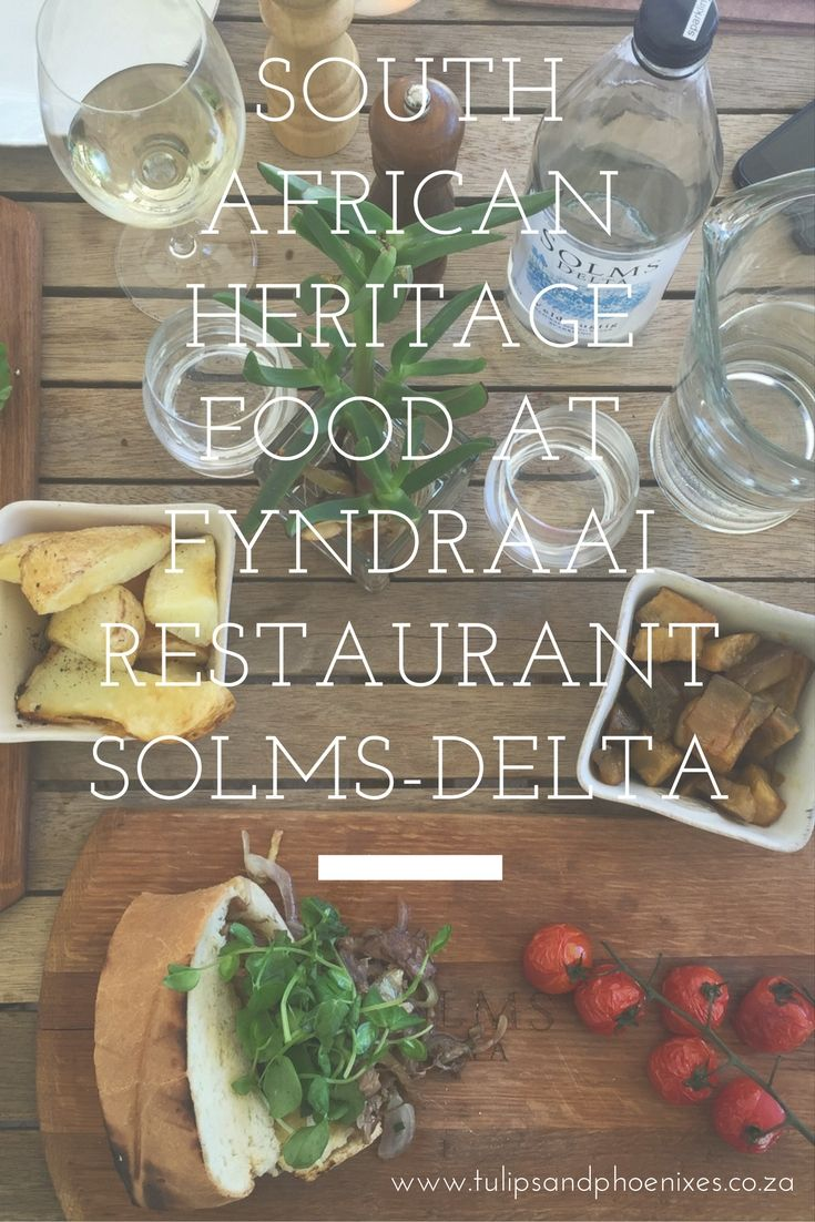 A taste of true South African heritage food. Eat authentic local South African food at Fyndraai restaurant on Solms-Delta wine farm in Franshhoek. Click to find out more about their traditional South African menu!