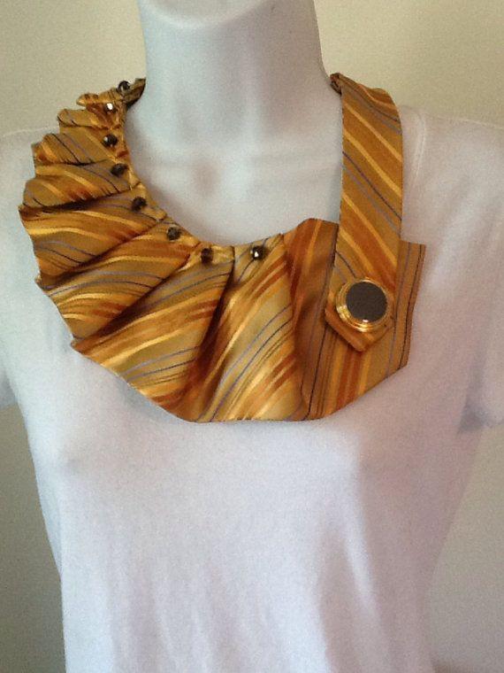 Upcycled men's necktie scarf by SnarledYarn on Etsy, $35.00