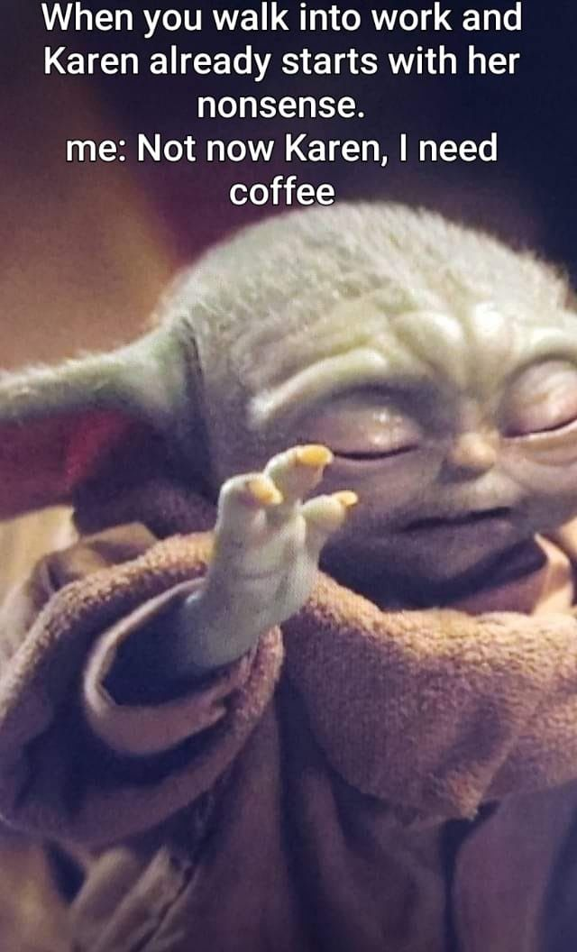 Pin By Jason Campbell On Geek Pics For The Geek In Us All Karen Memes Memes Yoda