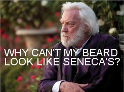 Seneca Crane's beard: Donald O'Connor, The Hunger Games, Cranes Beards, Games Obsession, Hunger Games Trilogy, U.S. Presidents, Even, Presidents Snow, Donald Sutherland