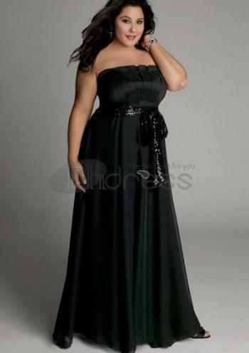 Plus Size Evening Dresses-plus size evening dress Estrella Gown in Black