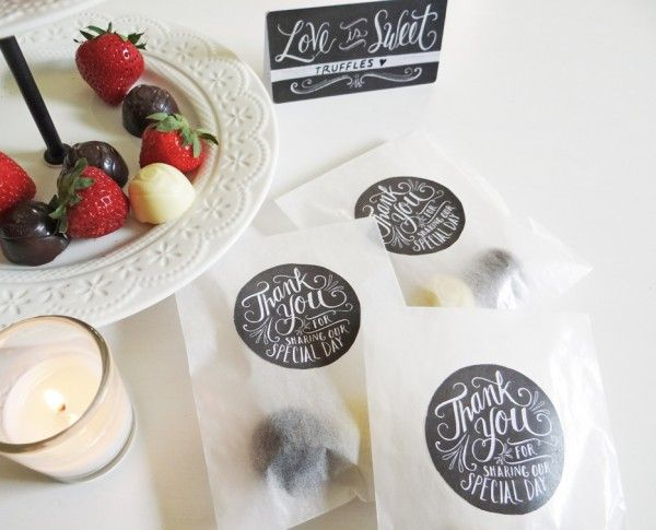 DIY wedding chalk art labels part of a large collection :: Free Printables..