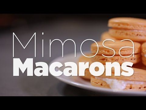 How to make mimosa macrons with champaign buttercream filling