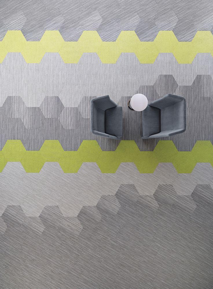 Tekstiilimattolaatojen muodot ja värit antavat mielikuvituksen lentää.