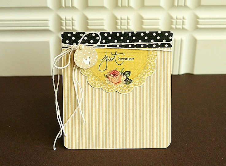Just Because Card by Danielle Flanders for Papertrey Ink (July 2012)