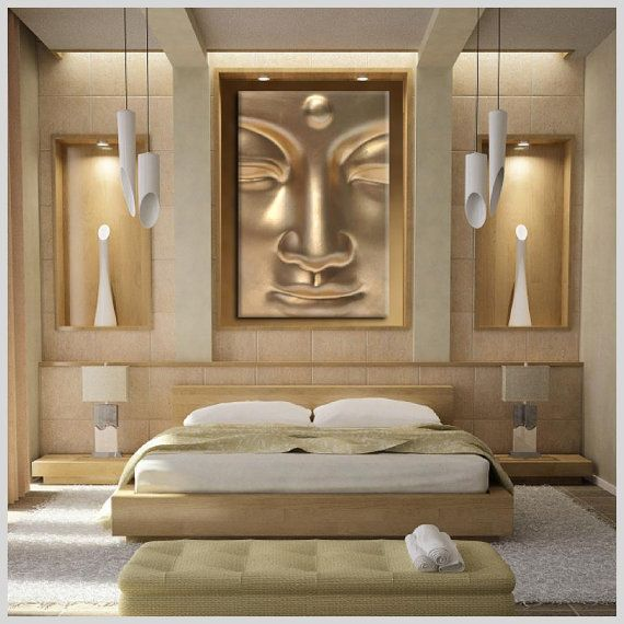 mystic canvas print gold buddha / stretched canvas by mysticdukkan, $85.00