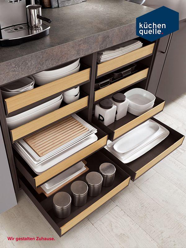 Die offenen Schubladen der Norina 3317 lassen deine Küche in ...
