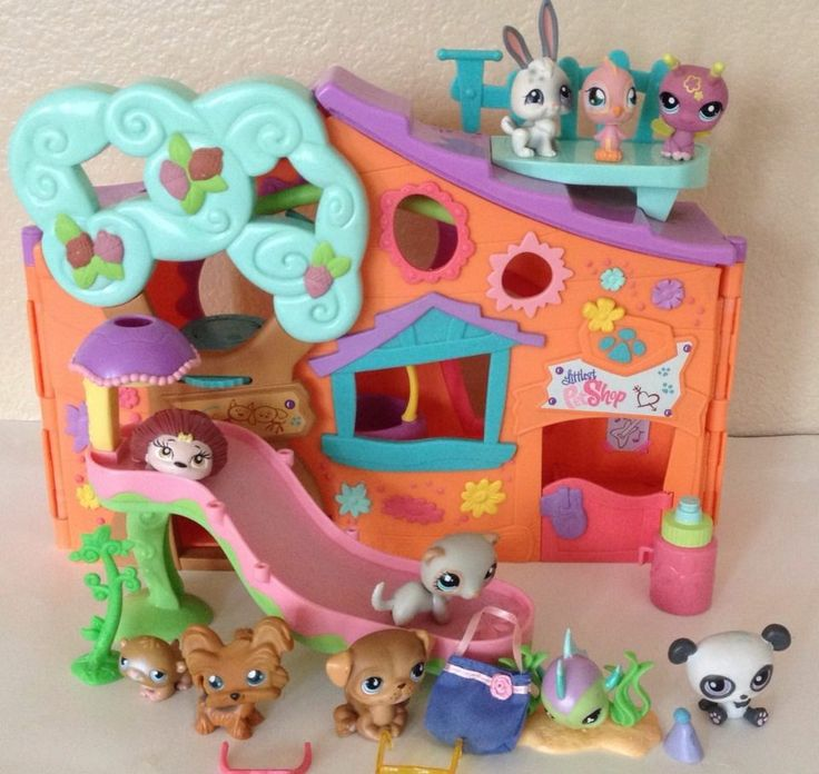 Littlest Pet Shop Clubhouse Orange Tree House Panda Bunny