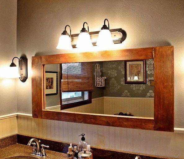 diy bathroom vanity mirror