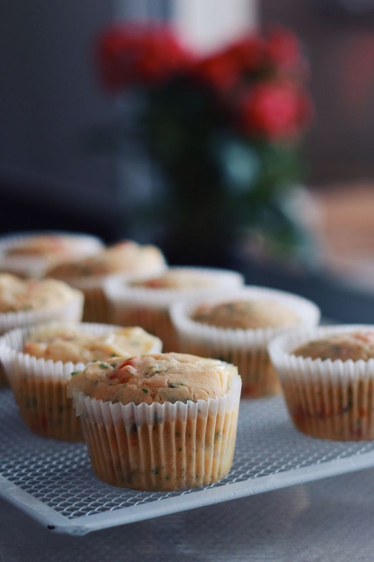 Muffin salgado vegano de tomate